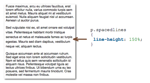 line height example