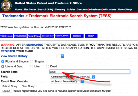 domain trademark search