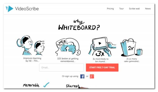 VideoScribe isa tool to make your own whiteboard videos