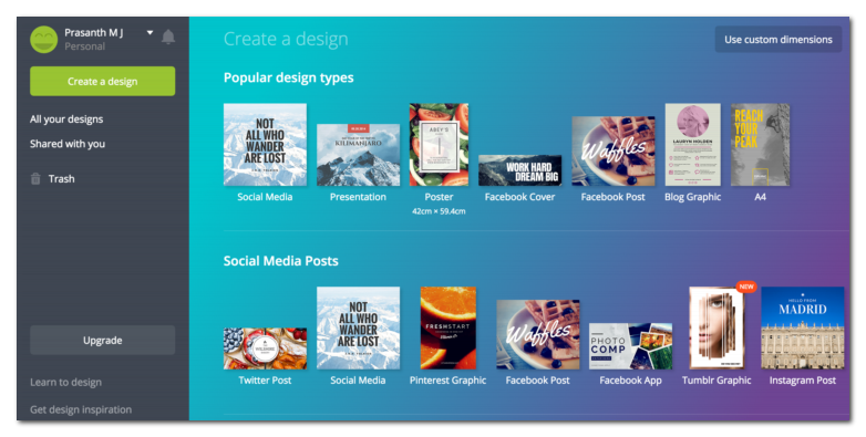 canva is an online tool to make images/infographics