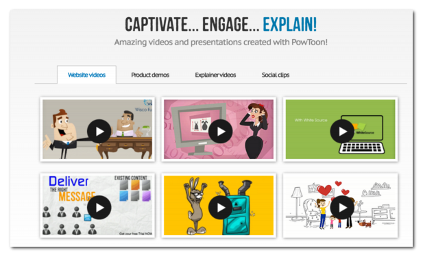 Powtoon is an online tool to create animated videos