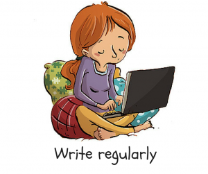 Write regularly