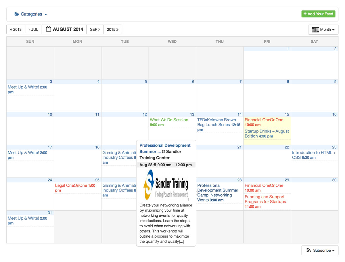 all in one event calendar wordpress plugin