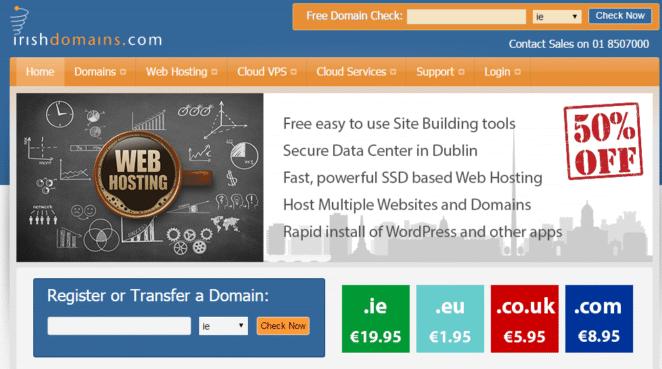 webhosting in ireland - irishdomains