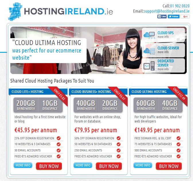 webhosting ireland hostingireland