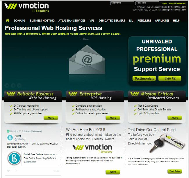webhosting ireland vmotion