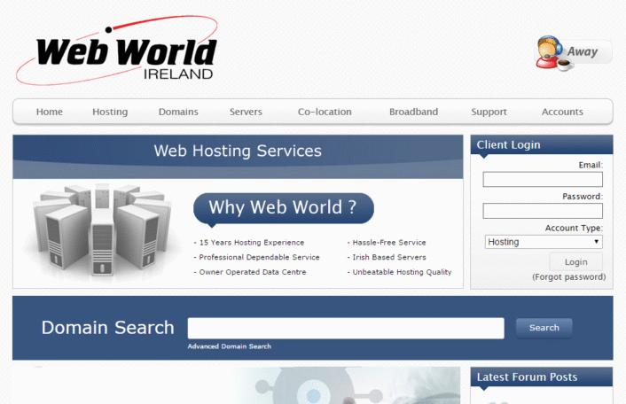webhosting ireland webworld